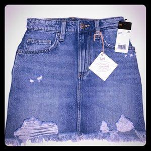 Lee High Waisted Denim Mini Skirt, Sz 24